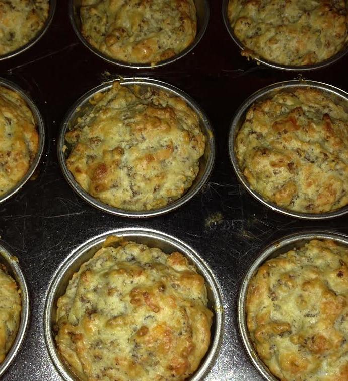 sausage swiss muffins