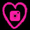 Free instagram pink heart social media icon